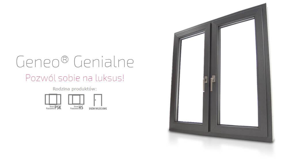 Okna plastikowe PCV Eurocolor Geneo