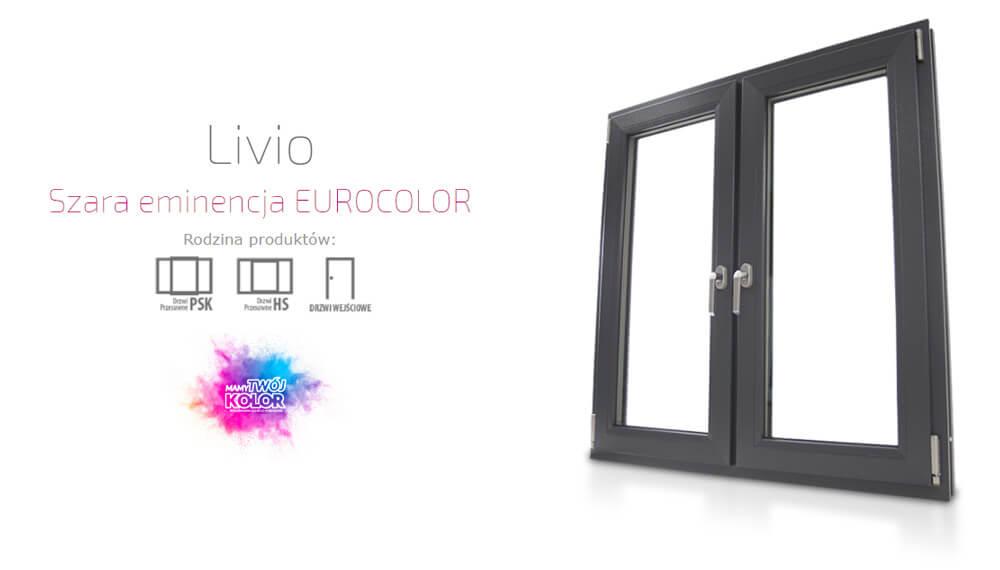 Okna plastikowe PCV Eurocolor Livio