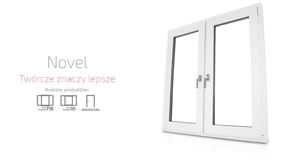 Okna plastikowe PCV Eurocolor Novel