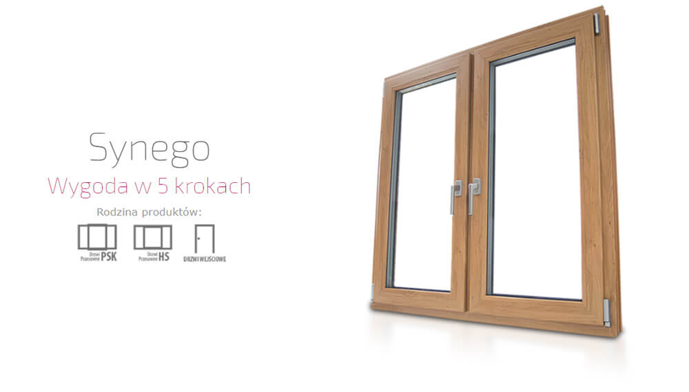 Okna plastikowe PCV Eurocolor Synego